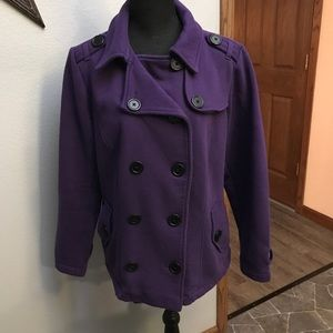 f37cc96e5ad torrid Jackets   Coats - TORRID Purple Double Breasted button up pea coat